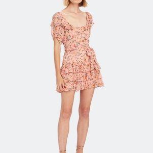 LoveShackFancy Kimbra Silk Mini Dress, Size 8